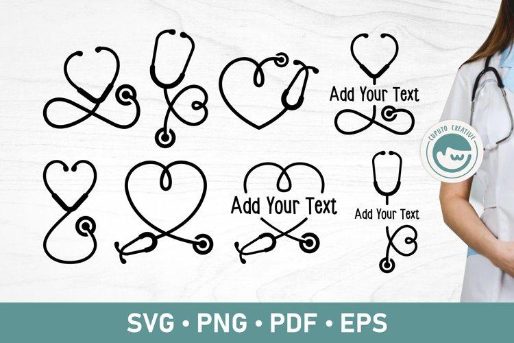 Stethoscope SVG With Heart Mini Bundle example image 1