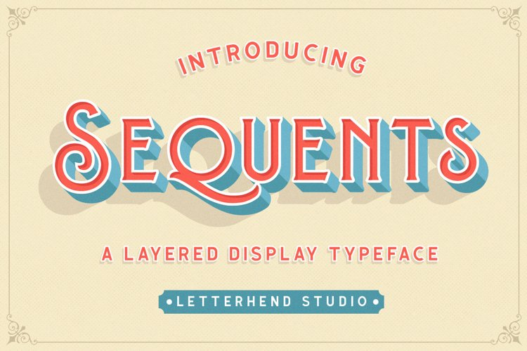 Sequents - Layered Font and ORNAMENT example image 1