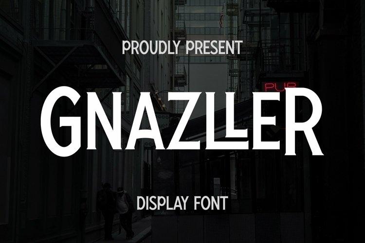 Web Font Gnazller Font example image 1