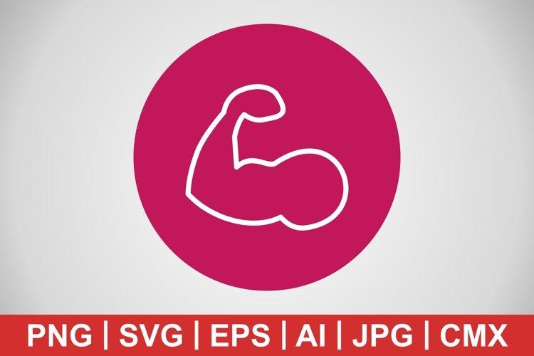 Vector Body Building Icon example image 1