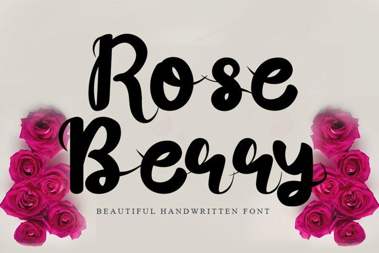 Rose Berry - Beautiful Handwritten Font example image 1