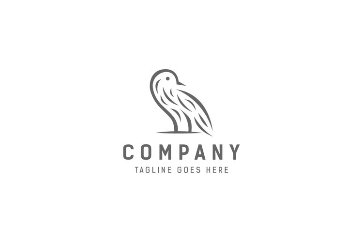 simple bird logo example image 1