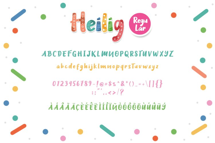 Heilig Display 3 Font example 3
