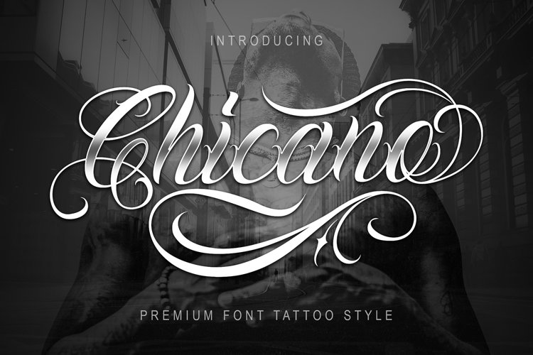 Chicano Font   Tattoo Style
