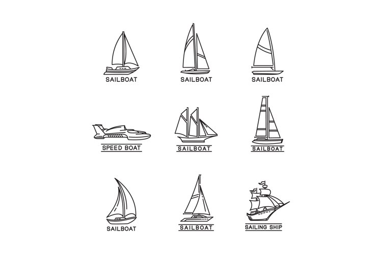 sailboat vector design example image 1