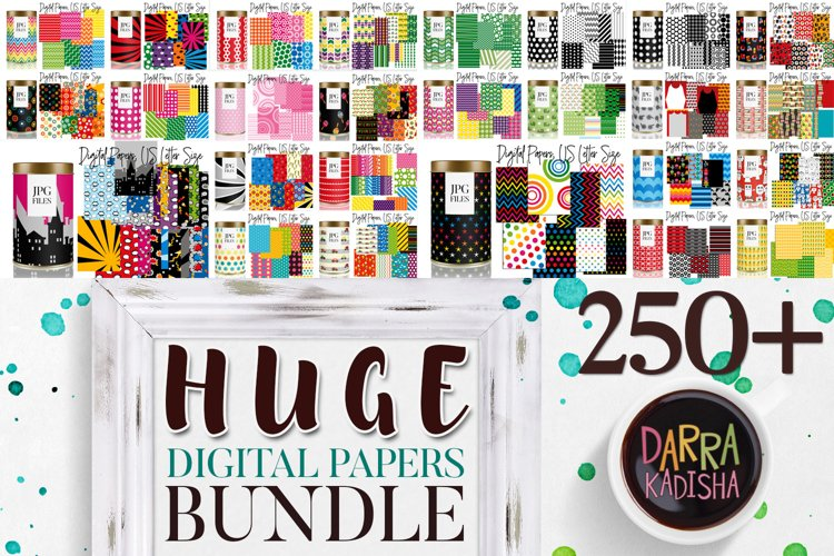Digital Paper Bundle, over 250 Patterns for Background