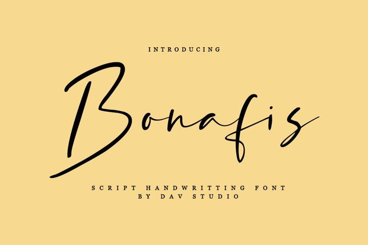 Bonafis - Script Handwritten Font example image 1
