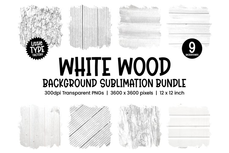 WHITE WOOD | Backsplash Sublimation Bundle