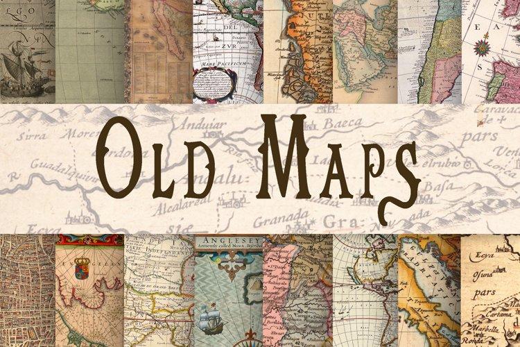 Old Maps Digital Paper