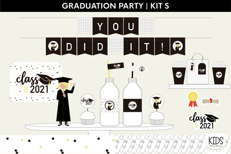 Class of 2021 printable party | Graduation party decorations