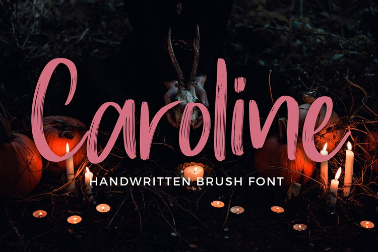 Caroline Handwritten Brush Font example image 1