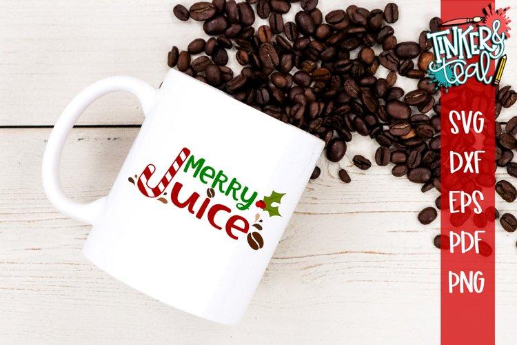 Merry Juice Christmas Coffee SVG example image 1