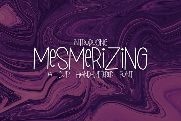 Web Font Mesmerizing - A Cute Hand-Lettered Font example image 1
