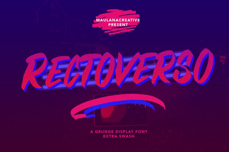Rectoverso Grunge Display Font Extra Swash example image 1