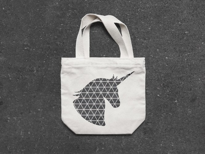 Geometric Unicorn SVG illustration | Geometric Animals SVG example 4