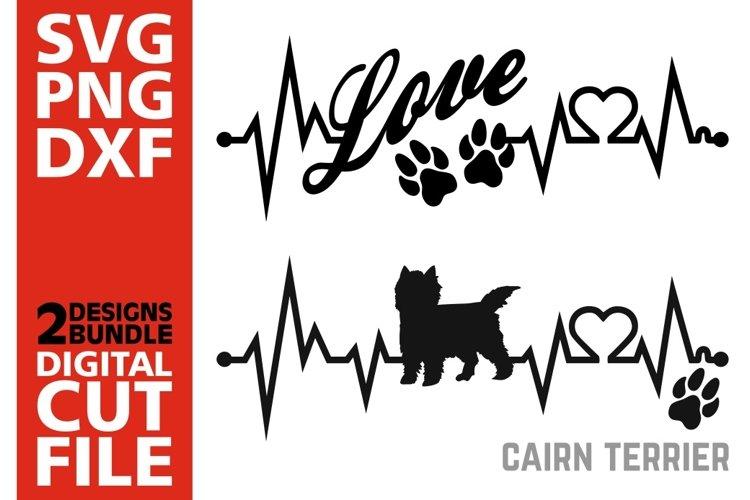 2x Cairn Terrier Bundle svg, Dog svg, Heartbeat svg, Love example image 1