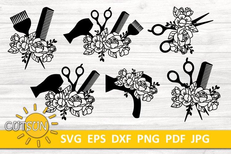 Hairdresser SVG bundle   Floral Hairdresser SVG bundle