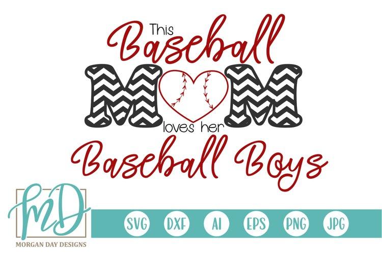 Baseball Heart - Baseball Boy - Baseball Mom SVG