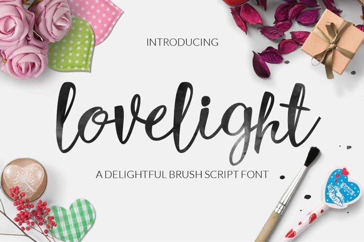 Web Font Lovelight Typeface example image 1