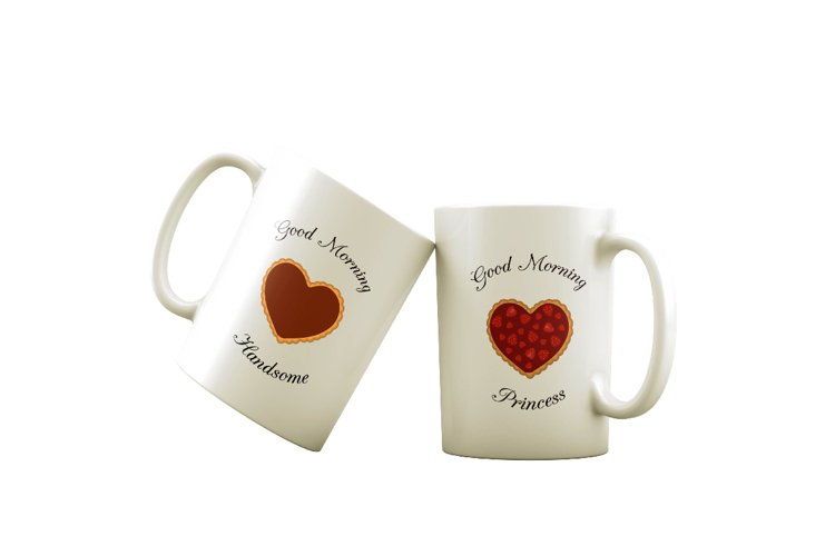 Sublimation design of cozy cups for her and for him
