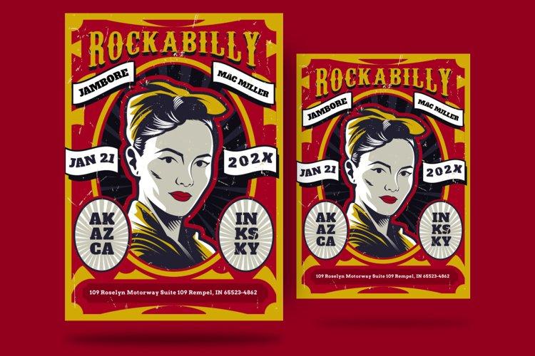 Rockabilly Concert Flyer example image 1