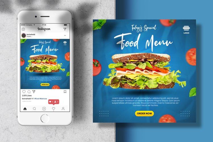 Food menu social media post banner template
