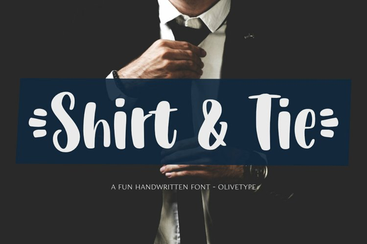 Shirt & Tie - A Cute Handwritten Font example image 1