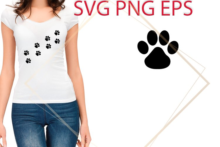 Dog Paw SVG Files, Dog Paw Print Cut Files example image 1