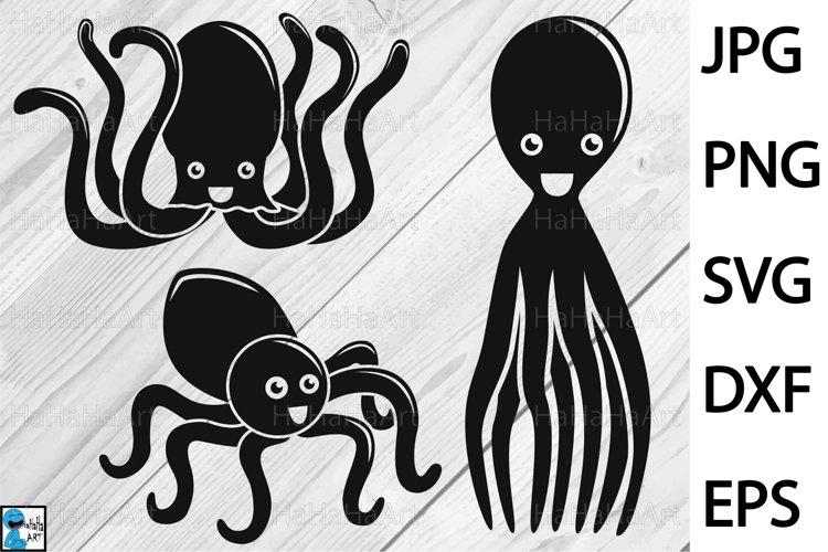 Octopus Designs - Clip art / Cutting Files 1267c example image 1