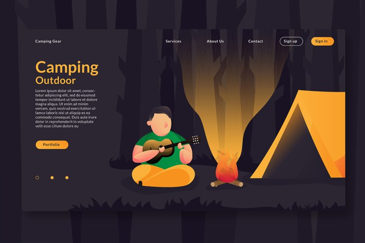 Camping Outdoor - Landing Page example image 1