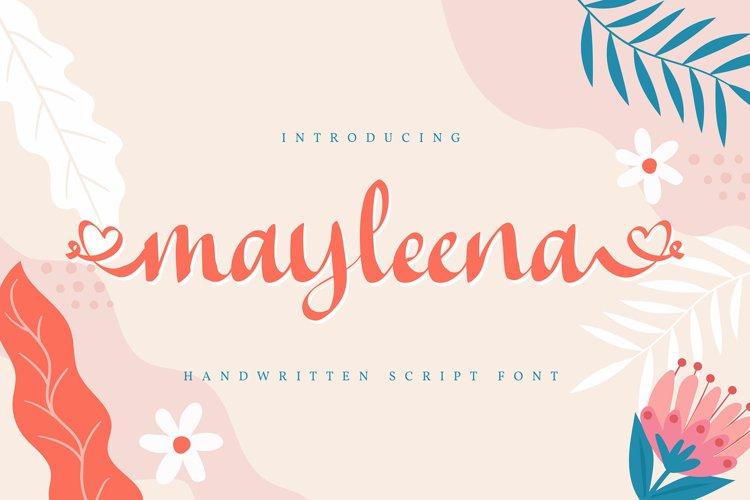 Mayleena   Handwritten Script Font example image 1