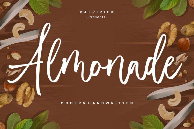 Almonade Modern Handwritten Font example image 1