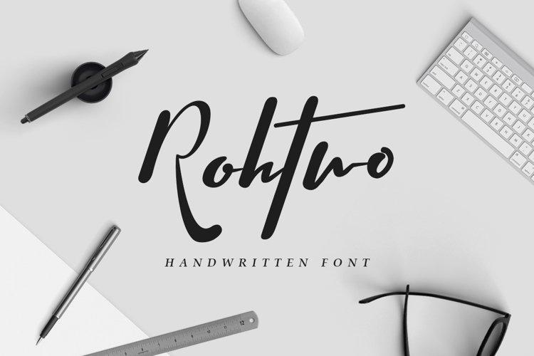 Rohtwo Typeface Signature example image 1