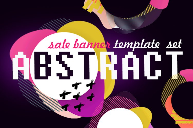 Abstract sale web template banner set example image 1