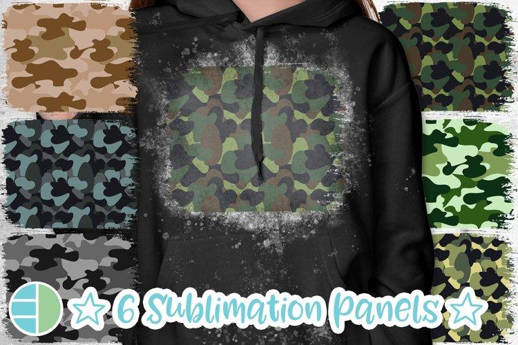 Camo Background Patterns Panel PNG Sublimation Bleach Patch