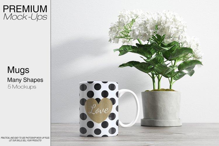 Mug Mockups - Many Shapes