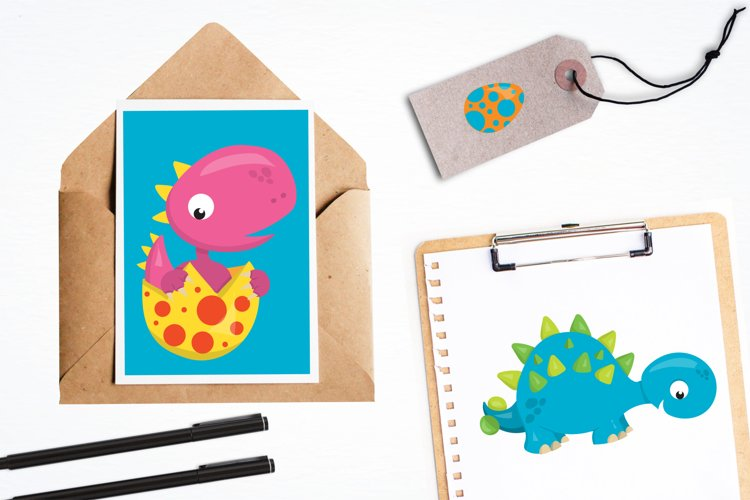 Dinosaur Babies graphics and illustrations - Free Design of The Week Design2