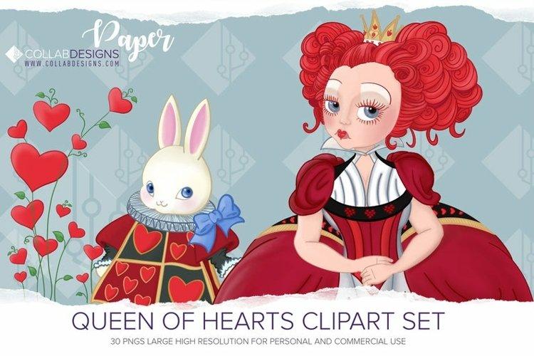 Queen of Hearts Alice in Wonderland Clip Art