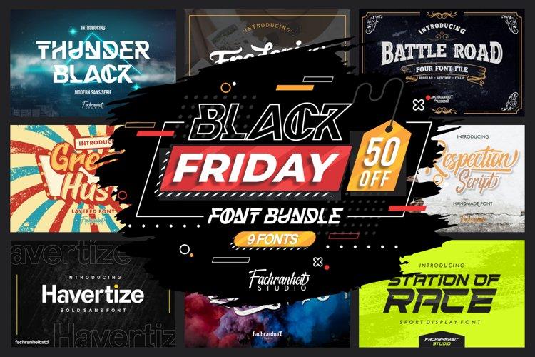 Black Friday Font Bundle