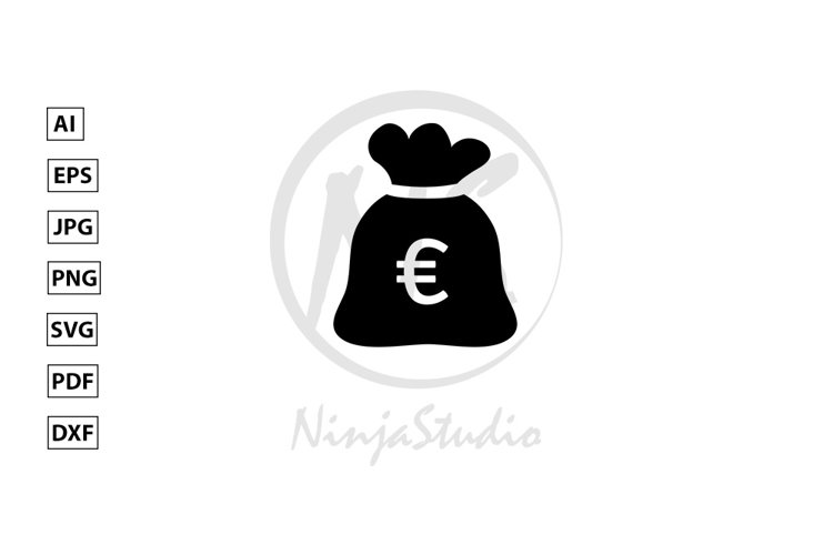 Money Sack Icon In Flat Style Vector example image 1