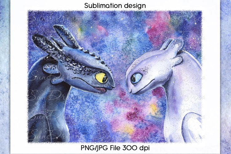 How to train your dragon Sublimation design, PNG/JPG File example image 1