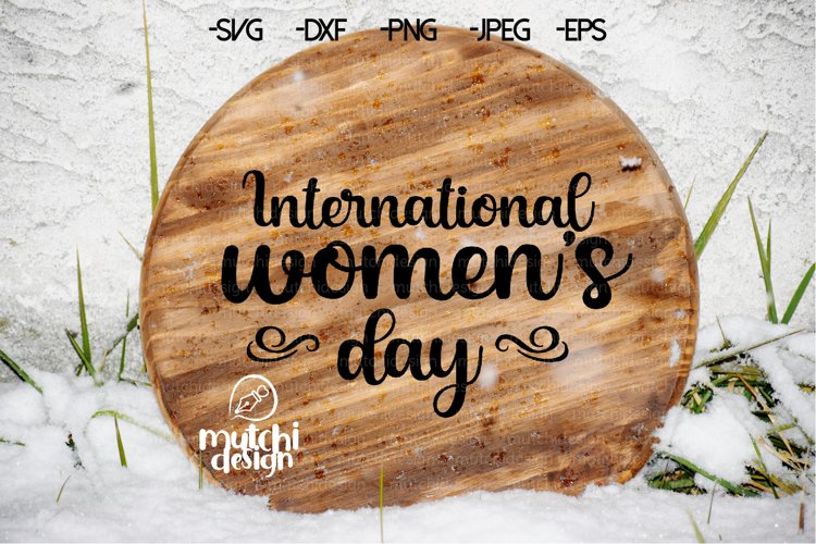 International Womans Day SVG example image 1