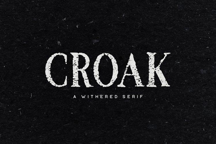 Croak Typeface example image 1