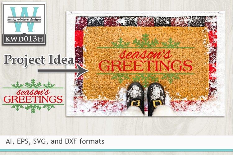Christmas SVG - Season's Greetings example image 1