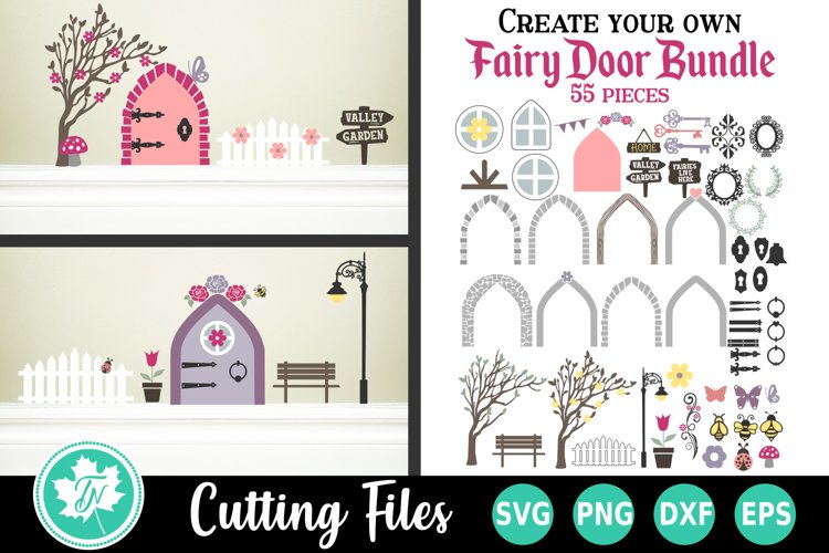 Create Your Own Fairy House SVG Cut File Bundle example image 1