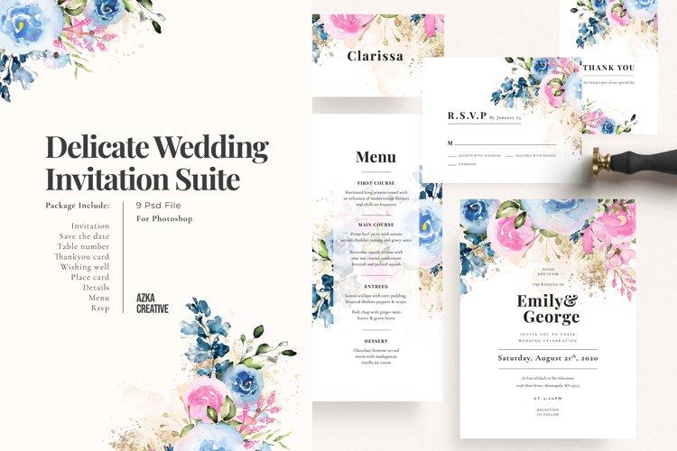 Delicate Wedding Invitation Suite