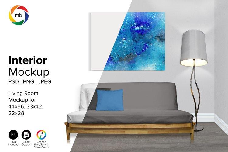 Living Room Mockup 22x28, 33x42, 44x56- PSD, PNG, JPG