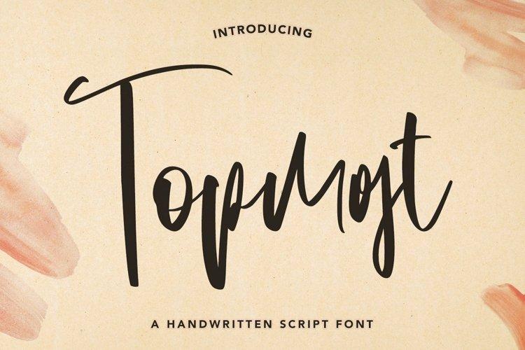 Web Font Topmost - Handwritten Script font example image 1
