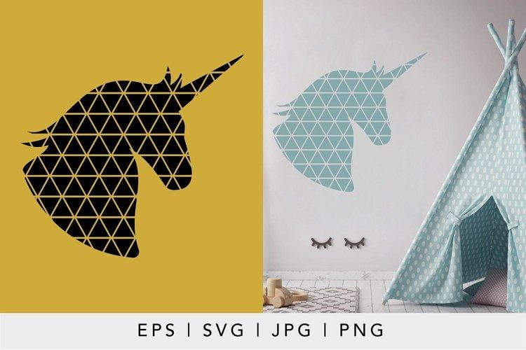 Geometric Unicorn SVG illustration | Geometric Animals SVG example