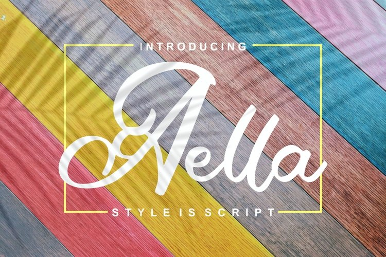 Aella | Style Is Script Font example image 1